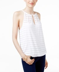 Inc International Concepts Illusion Stripe Halter Top Only At Macy's Bright White