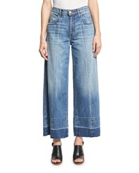Current Elliott The Wide Leg Crop Jeans W Released Hem Old Soul Blue