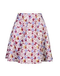 8 Skirts Knee Length Skirts Women Garnet