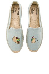 Soludos Embroidered Smoking Slipper Baby Blue