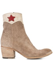 Fauzian Jeunesse' Jeunesse Red Star Ankle Boots Brown