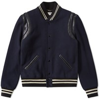 Saint Laurent Classic Teddy Jacket Blue