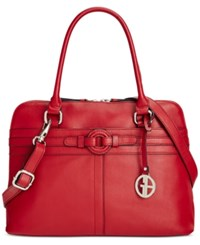 Giani Bernini Covered Ring Nappa Leather Dome Satchel Only At Macy's