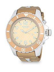 Kyboe Stainless Steel And Silicone Strap Watch Gold