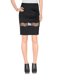 Galliano Skirts Knee Length Skirts Women Black