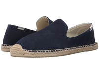 Soludos Smoking Slipper Suede Navy Men's Slippers