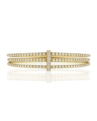 Carelle Moderne 18K Three Row Diamond Bangle