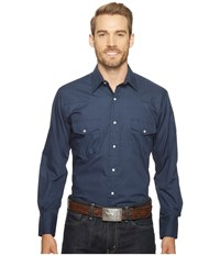 Roper 1052 Solid Broad Cloth Navy Blue Men's Clothing