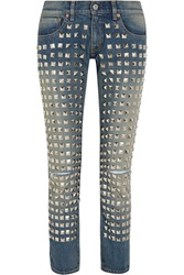 Junya Watanabe Studded Low Rise Straight Leg Jeans