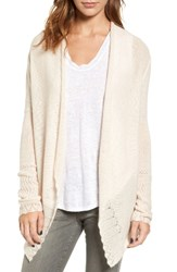 Velvet By Graham And Spencer Women's Cashmere Cardigan Pale
