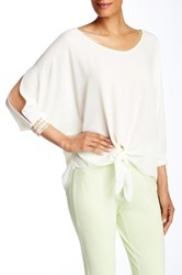 Insight Cold Shoulder Blouse Beige
