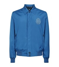 Billionaire Silk Bomber Jacket Male Blue