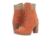 Timberland Earthkeepers Glancy 6 Boot Burnt Orange Nubuck Women's Dress Lace Up Boots
