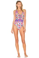 Nanette Lepore Antigua Goddess One Piece Coral