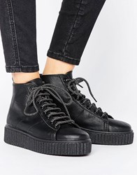 Asos Anytime Creeper Ankle Boots Black