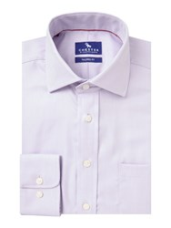 Chester Barrie Carltontexture Tailored Fit Shirt Lilac