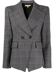 Michael Kors Collection Fitted Double Breasted Blazer Black