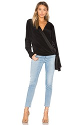 Diane Von Furstenberg Cross Front Blouse Black