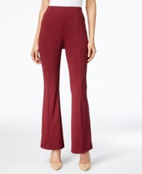Ny Collection Pull On Bootcut Pants Burgundy