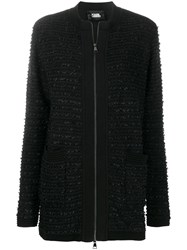 Karl Lagerfeld Tweed Boucle Cardigan 60