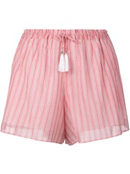 Zimmermann Striped Shorts Red