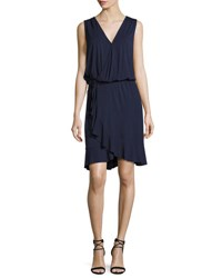 Tory Burch Ruffled Hem Wrap Dress Navy Tory Navy