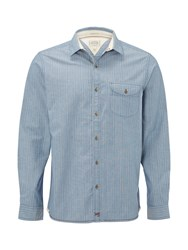 White Stuff Men's Galeforce Stripe Long Sleeve Shirt Blue