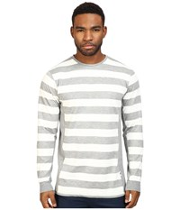 Publish Jed Premium Striped Knit On Long Sleeve Tee Heather Men's T Shirt Gray