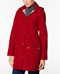 Barbour Gustnado Hooded All Weather Raincoat Red