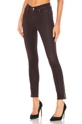 Hudson Jeans Barbara High Rise Ankle Jewel Side Zip Deep Red