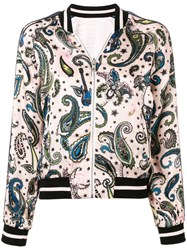 Zadig And Voltaire Paisley Bomber Jacket Pink