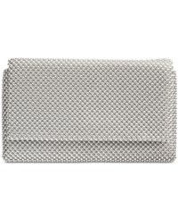Inc International Concepts Prudence Mesh Clutch Only At Macy's Silver