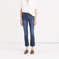 Madewell Cali Demi Boot Jeans In Mitchell Wash Drop Hem Edition