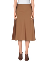 Space Style Concept 3 4 Length Skirts Camel