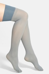 Pretty Polly Rib Knit Over The Knee Socks Gray