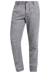 United Colors Of Benetton Trousers Light Grey Red