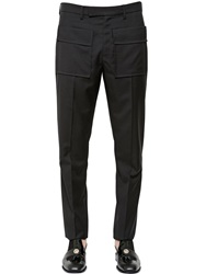 J.W.Anderson Patch Pocket Stretch Viscose Twill Pants Black
