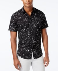 Inc International Concepts Men's James Popcorn Print Short Sleeve Shirt Only At Macy's Charcoal