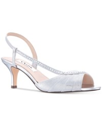Nina Cabell Evening Sandals Silver