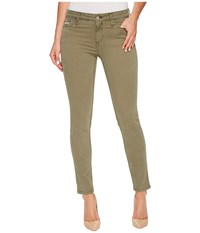 Calvin Klein Jeans Garment Dyed Ankle Skinny Pants In Ivy Mist Ivy Mist Women's Olive