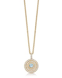 Kiki Mcdonough Fantasy 18K Gold Pendant Necklace With Blue Topaz And Diamonds