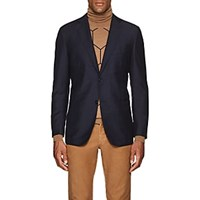 Eidos Mohair Wool Two Button Sportcoat Blue