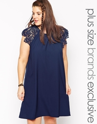 Alice And You Flutter Sleeve T Shirt Dress Navy