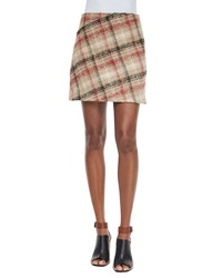 Carven Plaid A Line Skirt Multi Colors