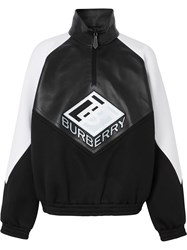 Burberry Logo Graphic Lambskin Funnel Neck Track Top 60