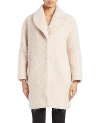 Cole Haan Luxe Wool Blend Coat Pink