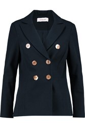 Derek Lam 10 Crosby By Double Breast Stretch Cotton Twill Jacket Midnight Blue