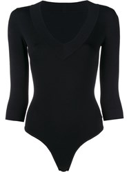 Alaia V Neck Body Black