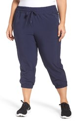 Zella Plus Size Women's Out And About Crop Jogger Pants Navy Peacoat