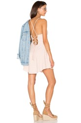 Lucca Couture Lace Up Back Dress Blush